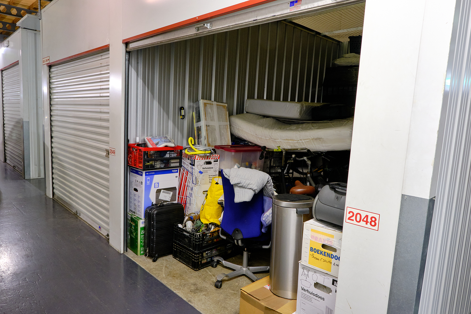 Newcastle storage units with household goods inside