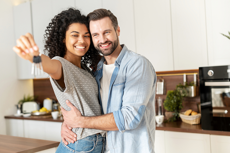 Couple buying apartments off the plan
